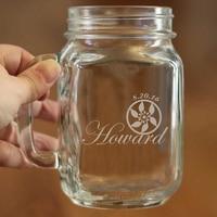 Stylish Pattern Of Mason Jars Bulk 450ml Large Capacity Mason Jar Glass Cup Custom Name And