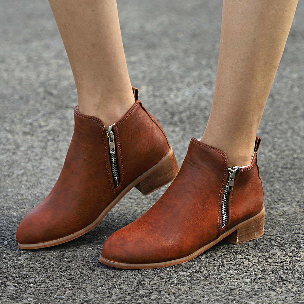 a166a8446bc YOUYEDIAN Women Ankle Short Booties Leather Knight Ladies Martin Boots  ShoesBoot ankle boots Soft Leather Flat Shoes#j4s