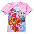 wholesale 4 pieces/lot Kids T-shirt Girls Clothes Cartoon Dog T Shirt Short Sleeve Tops&Tees Children T Shirts for Girls