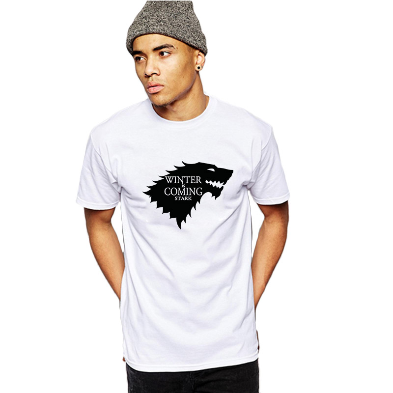 Male game of thrones stark sigil winter is coming casual for Game of thrones dress shirt