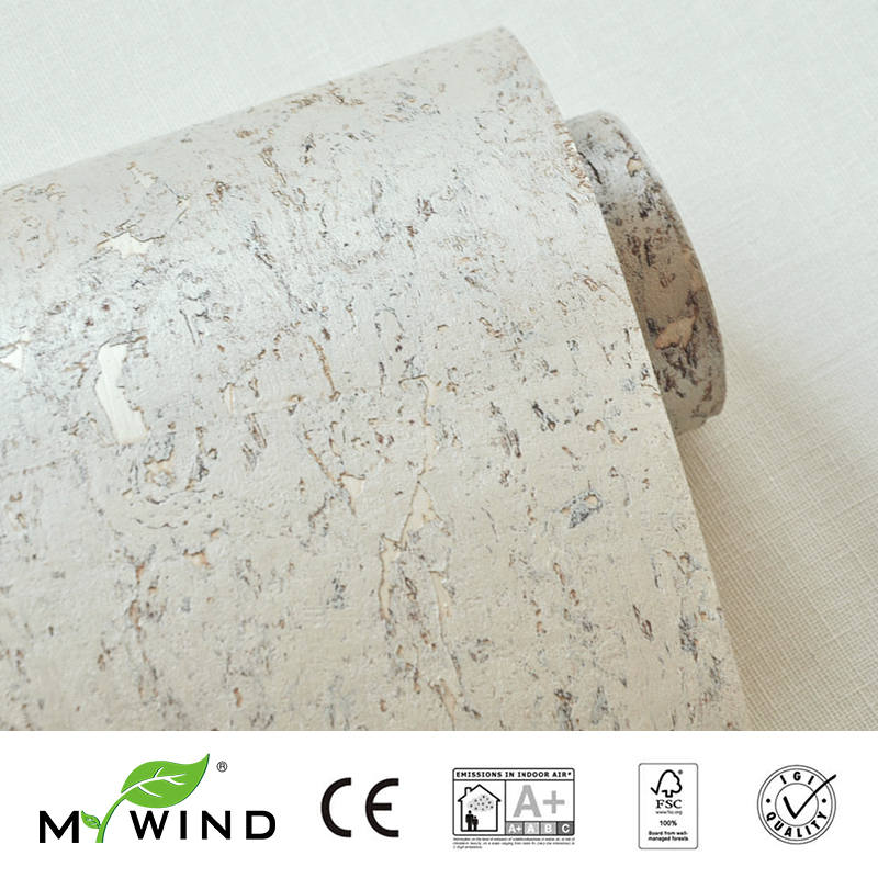 2019 MY WIND Texture Grey Luxury Good Taste Wallpapers Luxury 100% Natural Material Safety Innocuity 3D Wallpaper In Roll Decor