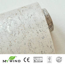 2019 MY WIND Texture grey Luxury Good taste Wallpapers 100% Natural Material Safety Innocuity 3D Wallpaper In Roll Decor