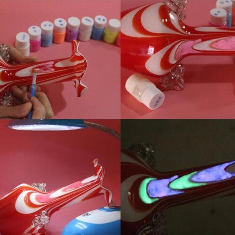 13 Color DIY Top Eco Non-toxic Odor Free Waterproof Graffiti Paint Luminous Acrylic Glow In The Dark Pigment Party Walls Hot