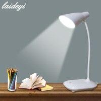 LAIDEYI LED Lâmpadas de Mesa de Carga USB 3 Nível de Toque Regulável interruptor Escritório Lâmpada de Mesa Estudante lâmpada de Leitura Lâmpada Led Olho Proteger lâmpada