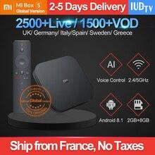 Mi Box S 4k Global Version With 1 Year IUDTV IPTV Code Sweden Spain UK Germany Italy IPTV 2G+8G BT4.2 Xiaomi Mi 4 Android Tv Box