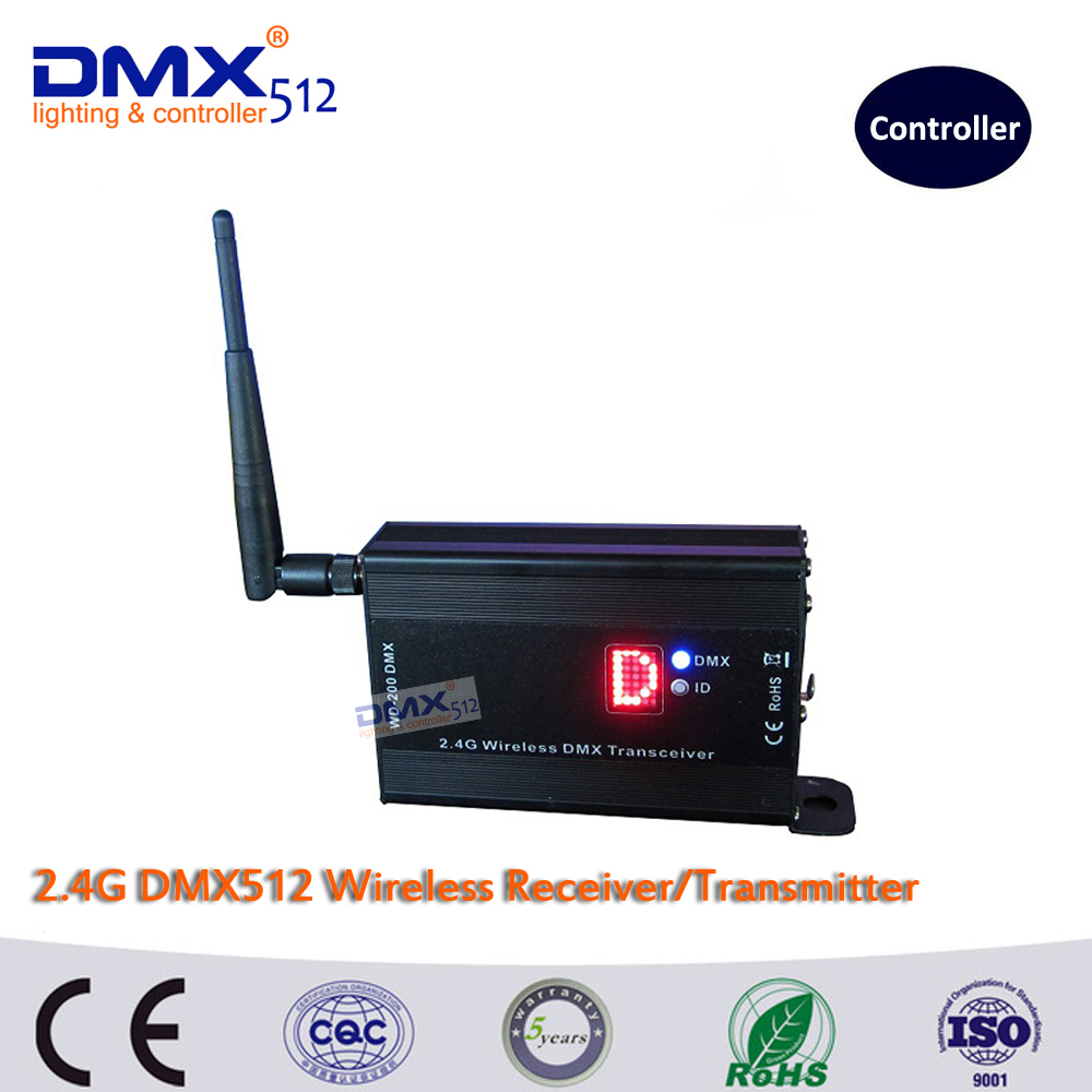 DHL Free shipping 2.4G DMX512 wireless receiver/transmitter controller and both way led stage lighting controller dhl free shipping 10pcs dmx512 wireless receiver and transmitter for stage lighting