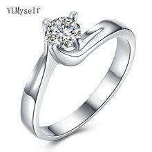 Высококачественное блестящее круглое кольцо с фианитом ювелирное