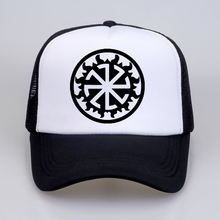 Kolovrat Baseball Cap Slavic Amulet Pagan Solar Symbol Wheel Nordic Viking Men Mesh Net Trucker Caps Hats