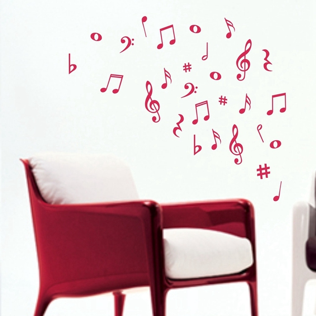 musical wall stickers music notes art vinyl wall decals for