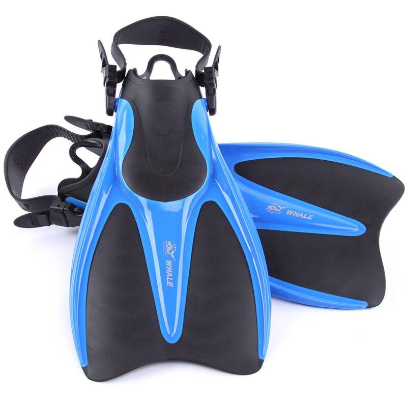 Baleine Plongée Sports Nautiques longue Plongée Flipper Équipement Tube de Respiration Sous-Marine masque de snorkeling chaussures palmes de plongée ensemble - 6