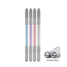 Microblading Handles Flat And Round Needle Blade Tebori Pen Microblading Holder Double Head Eyebrow Embroidery Hand Tool