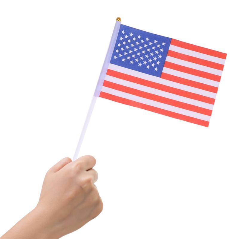 British Stick Flag 5.5 x 8.3 Inch Small Hand Held Flag of 50 PCS Mini UK Flag