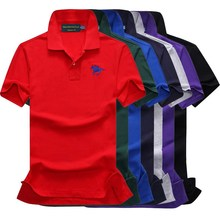 Polo Men Real Solid Regular Cotton 2019 New Summer Short-sleeved solid Lapel Leisure Middle-aged England Style big polo 886