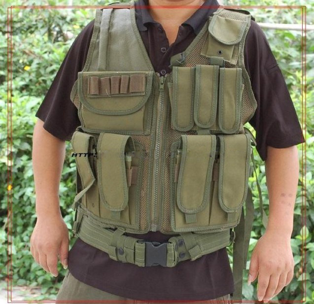 Deluxe Airsoft Hunting Combat Mesh Vest Assault Combat Molle Plate Paintball Carrier Vests Colete Tatico Militar Tactical Vest
