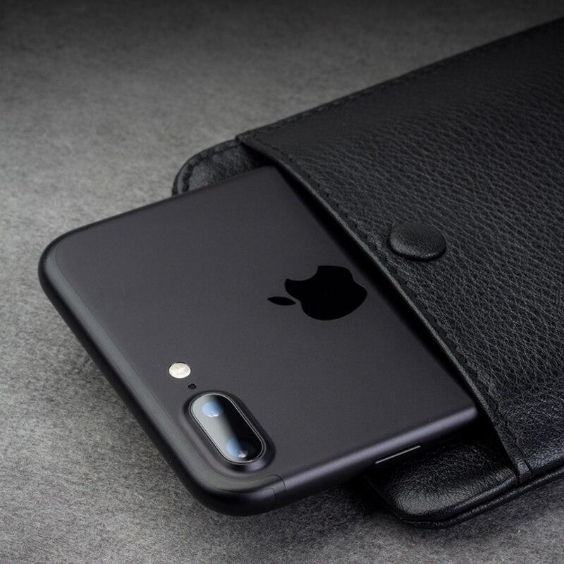 imágenes para QIALINO 2016 Caja de la Carpeta para el iphone 7 y iPhone 7 más hecho a mano Genuina de Cuero ranuras para tarjetas de La Cubierta para el iphone 6 s 4.7/5.5 pulgadas
