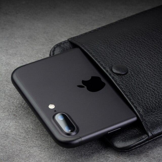 QIALINO – étui portefeuille 2016 en cuir véritable pour iphone 7 et iPhone 7 plus, fait à la main, avec fentes pour cartes, 4.7/5.5 pouces
