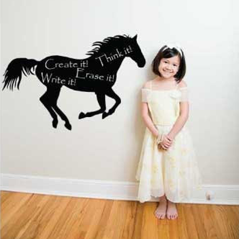 Cartoon Horse DIY Home Decoration Chalkboard Blackboard Vinyl Wall Decal Stickers Mural Wallpaper Kids Children Room Art 40x60cm