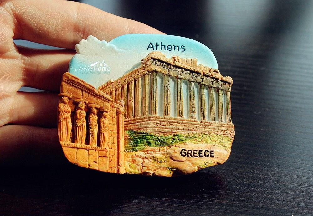 aa8452ef561ab الأكروبوليس ، أثينا ، اليونان السياحية السفر تذكارية 3D الراتنج الزخرفية  الثلاجة المغناطيس الحرفية هدية