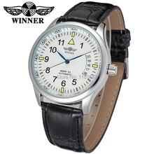 Новый Победитель Повседневная Часы Мужчины Hotsale Автоматические моды для Мужчин Часы черный кожаный ремешок Доставка Бесплатно WRG8024M3S1