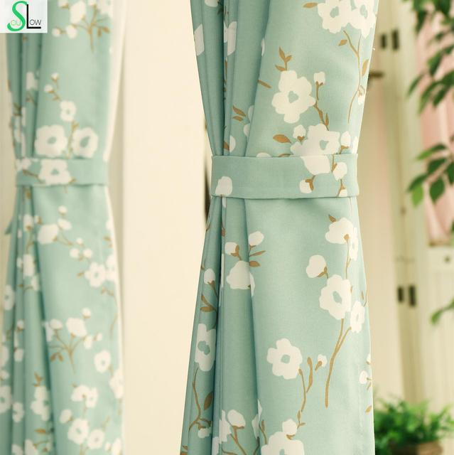 [Slow Soul] Korea Garden Curtain Cloth Small Fresh Kapok Bedroom Living Room Shade Full Curtains For Fabric Blackout Modern
