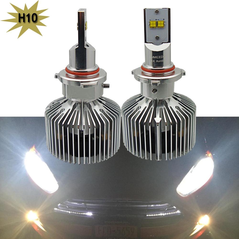 1 Set Led Headlight Kit H10 45W 4500LM Lumileds Chip LED Head light bulb White 6000K