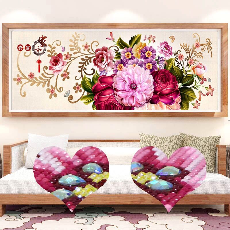 Special Shaped Diamond Embroidery Full DIY Diamond Painting Flowers Cross Stitch Diamond Mosaic Bead Picture Home