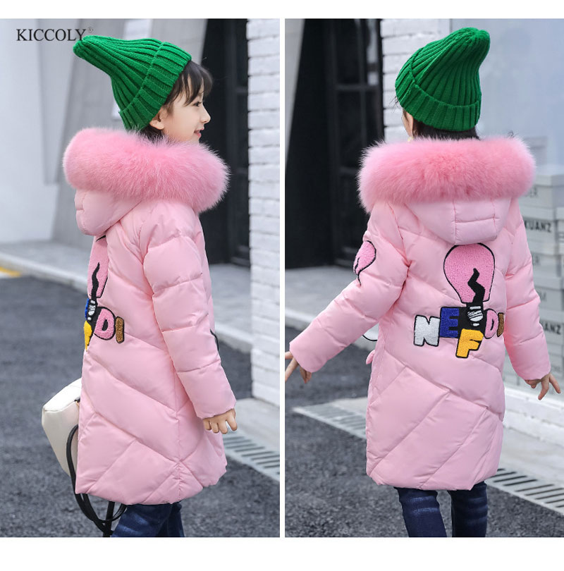 2017 Winter Cartoon Children's Clothing Kids Down Cotton Outerwear Girls Hooded Wadded Jacket Child long Thickening Cotton Coat 2017 new winter women wadded jacket outerwear plus size hooded loose thickening casual cotton wadded coat parkas student ws299