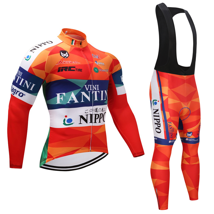 Winter 2018 ORANGE cycling jersey pants set Ropa Ciclismo mens pro long sleeve cycling wear Windproof Bicycling Maillot Culotte 2018 cycling jersey long sleeve pro bike bib pants set ropa ciclismo mens cycle wear bicycle uniformes maillot sportwear