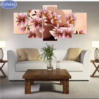 5pcs,5D DIY Diamond Painting flower,Orchid,3d,Full Square Diamond Embroidery Cross Stitch,Mosaic,stickers,Christmas,wall decor