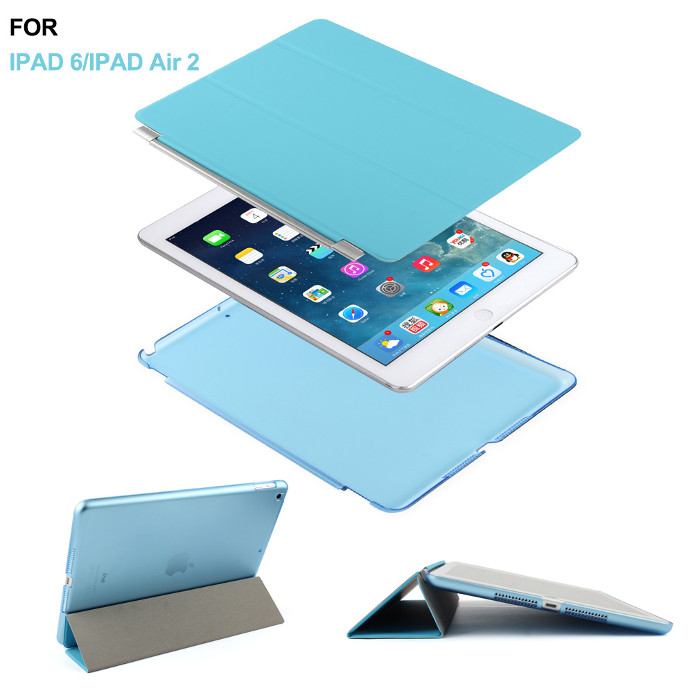 Ultra Slim Light Weight Sleep Awake Smart Stand Case Cover for iPad Air 2 Protective Premium
