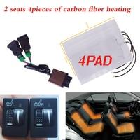 12V 2 seats heated seat,seat heater fit Prado,Corolla,RAV4,Reiz,Yaris,Camry,Crown EZ,Vios,Venza,Alphard,Scion,car seat heater