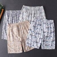 Men's Pajamas Short Pants Cotton Underwear Men Home Pants