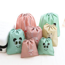 Travel Storage Bag Cartoon Waterproof Suitcase Cosmetic Toiletries Organizer Clothes Underwear Socks Packing Drawstring Hand
