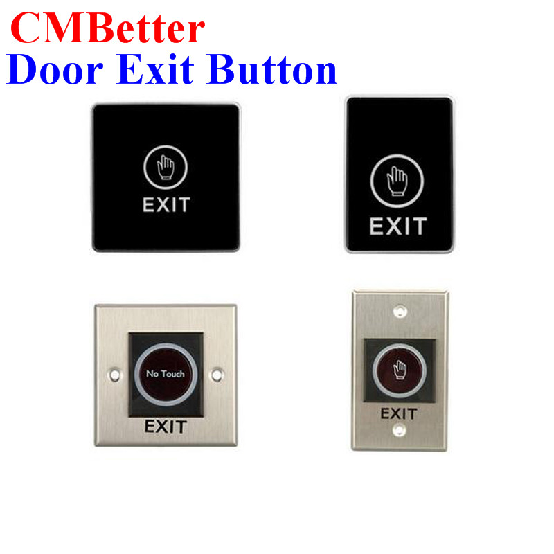 4 style Door Exit Button Switch Touch Release Button Non-Touch Infrared Push Button Switch For Door Access Control System stainless steel rectangle exit push release button switch for electric magnetic lock door access control