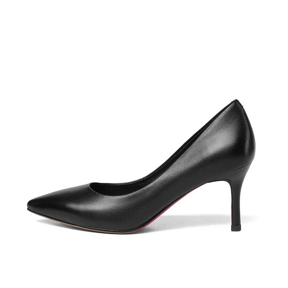 สุภาพสตรีรองเท้าหนังแท้หนัง Heel Pointed Toe เซ็กซี่ชุดรองเท้าฤดูใบไม้ผลิสาวฤดูร้อน plus ขนาด PRS02 MUYISEXI