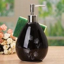 Elegant Design Ceramic Smooth Soap Dispenser Bottle Shampoo Hand Lotion Bath