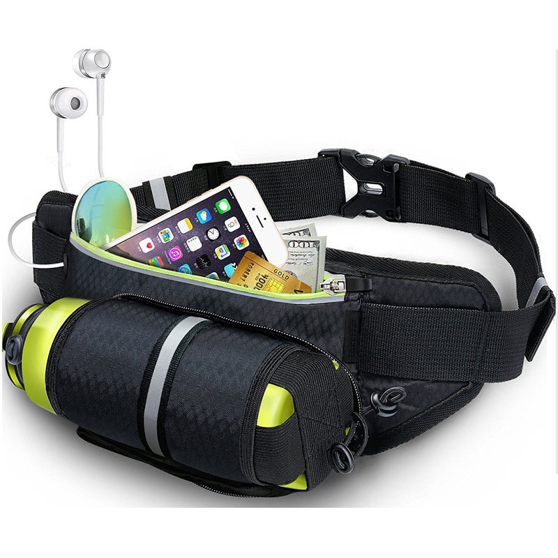 Relojes Y Joyas Professional Running Waist Bag With Hidden Pouch For Bottle Sport Belt Mobile Phone Bags Men Women Gym Bags Running Waist Pack
