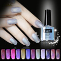 10ML LASER Holographic UV/LED Gel Nail Polish Long Lasting Soak Off Rainbow Gel Polish Nails 12 Colors