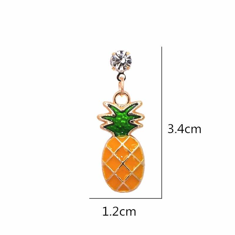 2018 Hot Women's Fashion Crystal Earrings for Women Bijoux Fruit Pineapple Dangle Earrings Maxi Statement Jewelry Drop Shipping