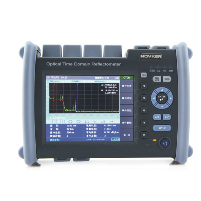 NK6000 OTDR Optical Fiber Breakpoint Detector with Built-in Visual Red Light for Locating Faults 4