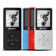 2017 original Ultrathin RUIZU X02 MP3 Player 4GB With 1.8 Inch Screen can play 80h Sporting mp3 Music Player &FM,Recorder,E-book