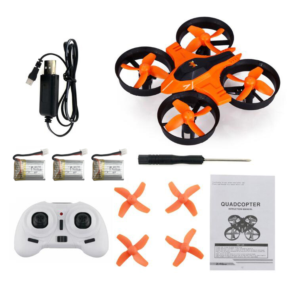 Original F36 2.4GHz 4CH 6 Axis Gyro RC Mini Drone Quadcopter RTF LED Headless Mode Speed Switch 3D RolloverHelicopter Drone Toys