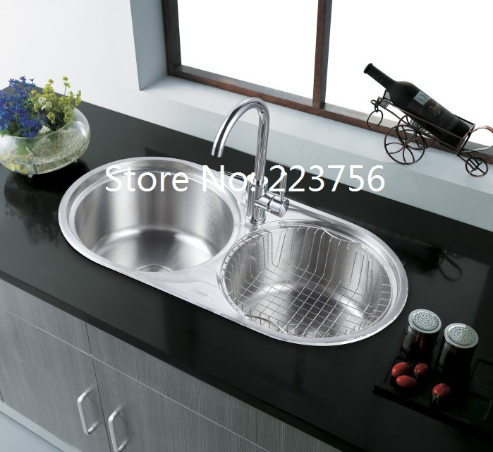 Free Shipping Best Quality Luxury Round Double Bowl Stainless Steel Kitchen  Sink Made In China 8344 In Kitchen Sinks From Home Improvement On  Aliexpress.com ...