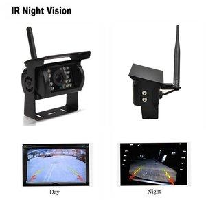 """Image 3 - Podofo kablosuz 4 yedekleme kameraları IR gece görüş su geçirmez ile 7 """"dikiz monitör RV kamyon otobüs park yardım sistemi"""