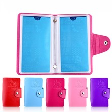 1Pcs 24 Slots Nail Art Stamp Plate Stamping Plates Holder Storage Bag Cases 4 Colors Choice Organizer For Nails