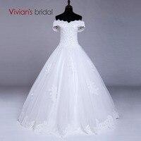 Vivian S Bridal White Boat Neck Wedding Dress Ball Gown Beads Bridal Gowns Vestido De Noiva