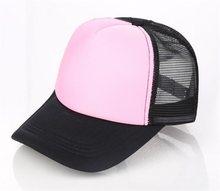 53e7556cdb8 10pcs Lot Men DIY Painting Trucker Mesh Hats Summer Women Blank Mesh Snapback  Cap Spring