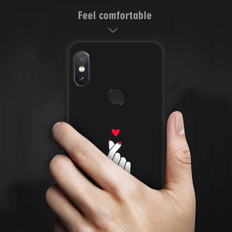 クールパターン電話ケースシャオ mi 赤 mi 注 6 プロ S2 mi A2 8 Lite 6X Pocophone F1 6A 5A 5 プラス黒マットソフトシリコンカバー