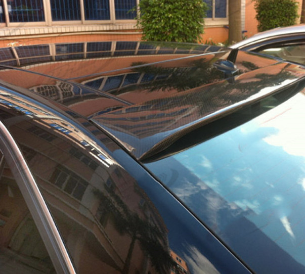 Pour Benz W212 E320LE260LE300L AMG style aileron de toit en fiber de carbone matériau voiture fenêtre arrière aileron d'aile pour W212 4 portes