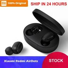 В наличии Xiaomi Redmi AirDots True беспроводной Bluetooth 5,0 наушники DSP наушники от шума с микрофоном наушники TWSEJ04LS